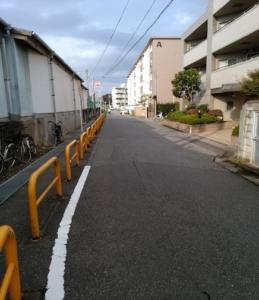 習志野駅横道路