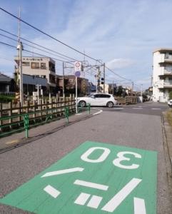習志野駅前 踏切