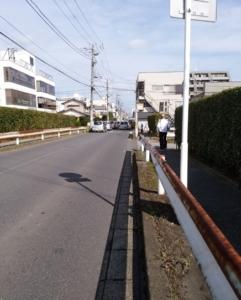 道順-6 踏切渡った道路